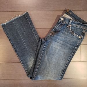 7 For All Mankind Frayed Hem Jeans